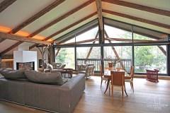 34-Penthouse-Perspektive-von-Küche Gut Stohrerhof