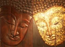 Buddha Holzkunstwerk